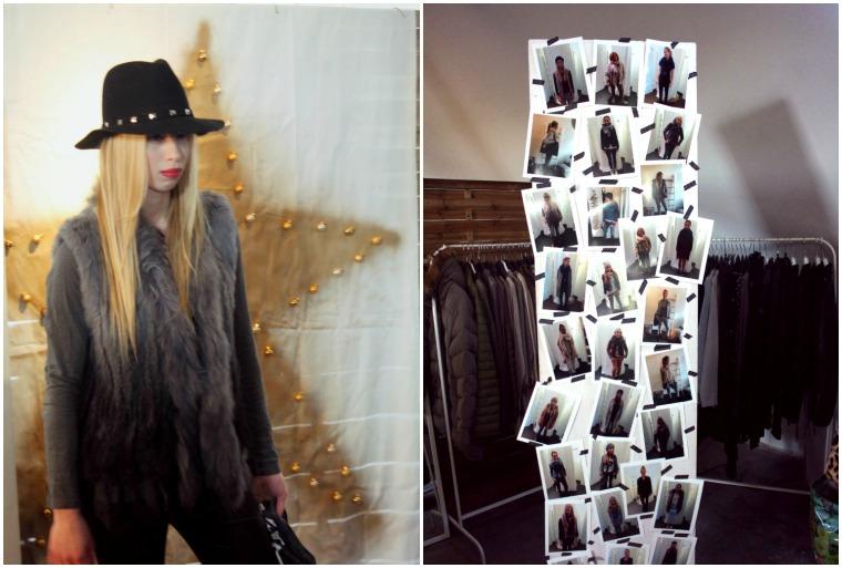 Collage II Weste und Fotowand