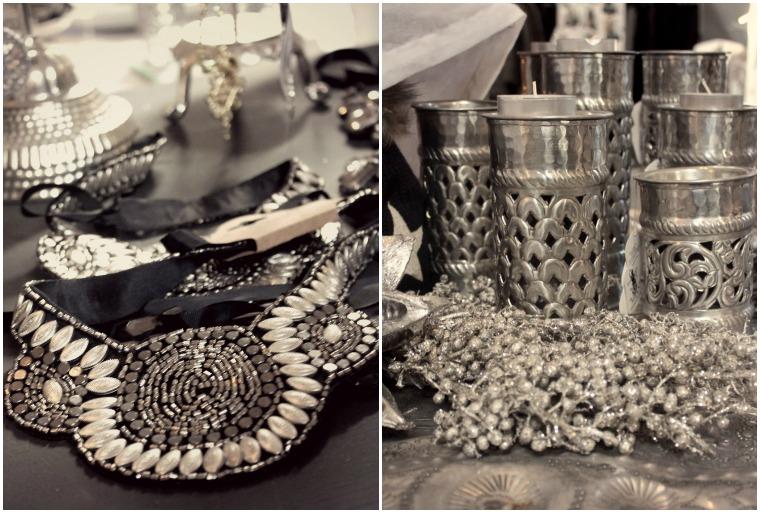 Collage III Kette und Kerzenständer